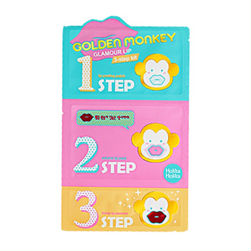 Holika Holika Golden Monkey Glamour Lip 3-step Kit 1pcs