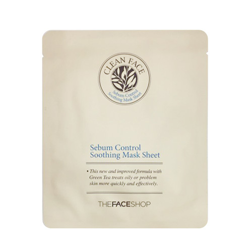 Clean Face Sebum Control Soothing Mask Sheet